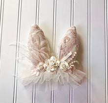 Load image into Gallery viewer, Light Blush Sequins Bunny Headband