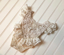 Load image into Gallery viewer, Annie Lace Romper and Bonnet Set