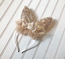Load image into Gallery viewer, Bunny Headband in Champagne, Ivory or Light Tan