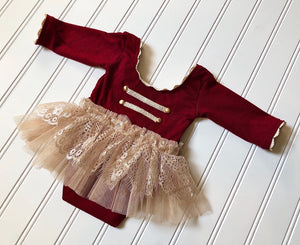 Joy Romper in Deep Red