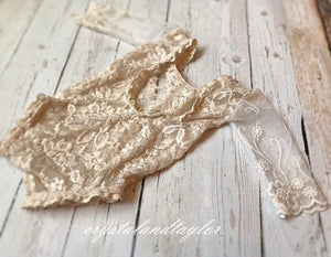 Kennedy Lace Romper in Ivory