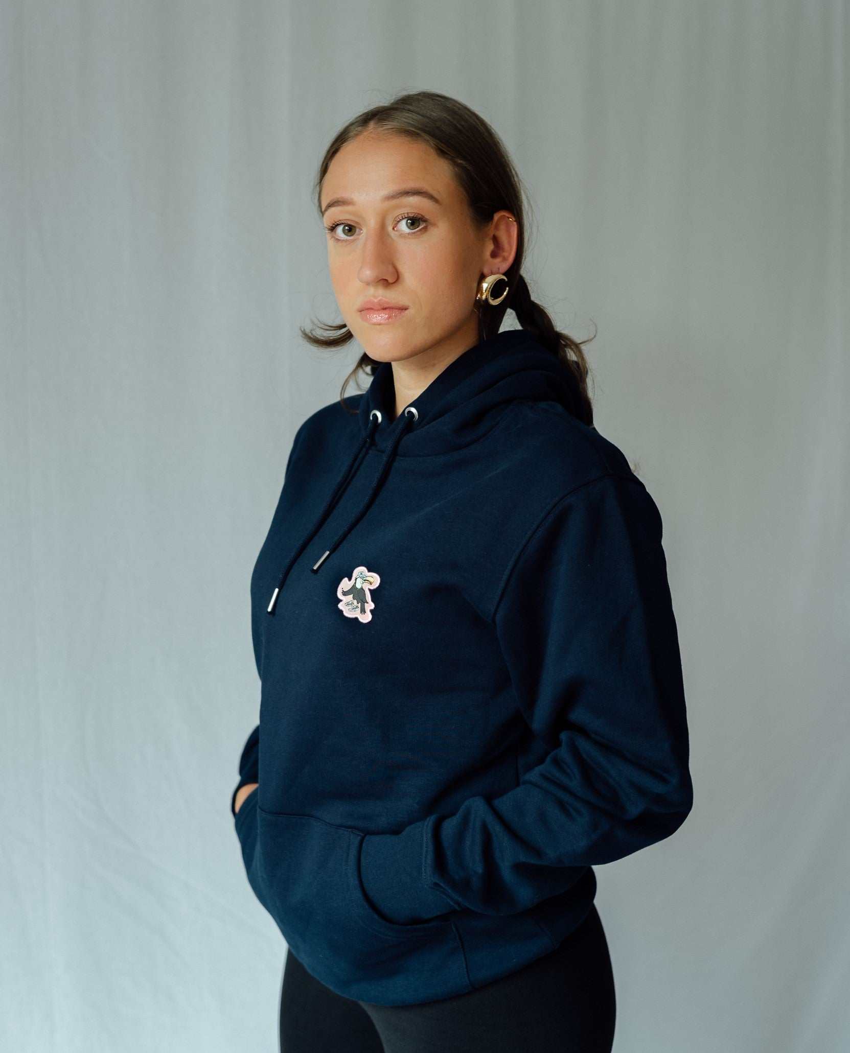 Cloud Twokan Icon Hoodie in Navy Blue