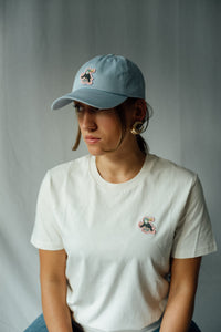 Cloud Twokan Classic Dad Hat in Stone Grey