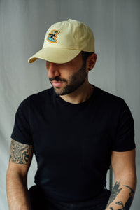 Surfer Twokan Classic Dad Hat in Pastel Yellow