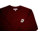 Lade das Bild in den Galerie-Viewer, Jazz Twokan Icon Sweater in Burgundy Red