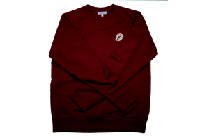 Jazz Twokan Icon Sweater in Burgundy Red