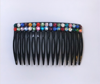 Colourful Swarovski Comb