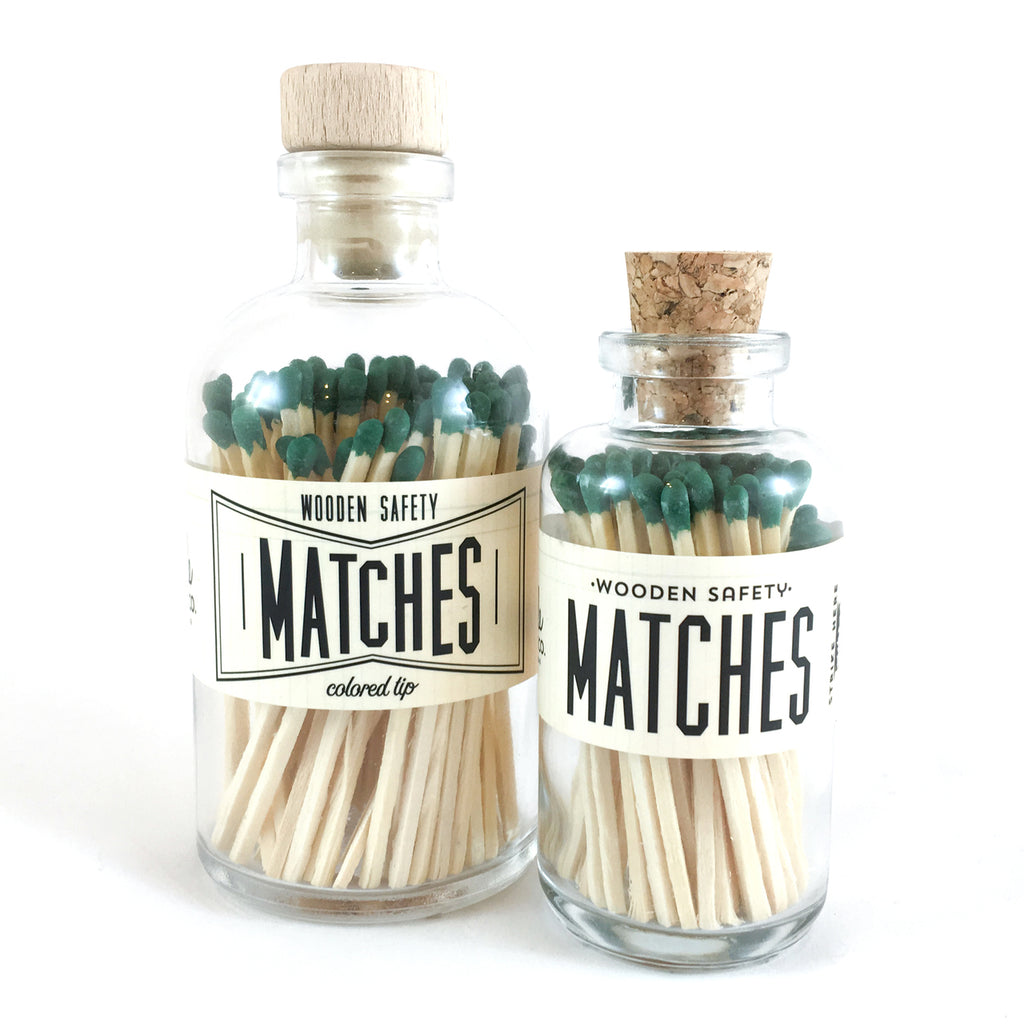 Olive Green Vintage Matches (large)