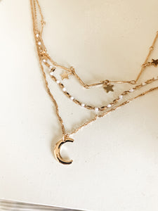 The Stars and Moon Necklace
