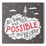 Inspirational Canvas Wall Art With Motivational Quote