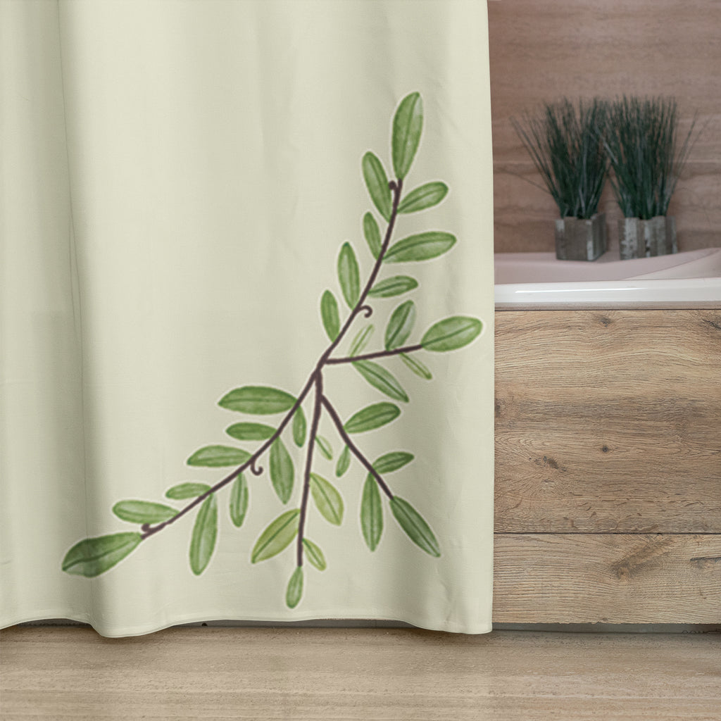 Rustic Shower Curtain with Quote - Mold and Mildew Resistant / Waterproof (72 x 72 Inches)