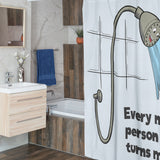 "Funny Shower Curtain with Joke (72 x 72"")"