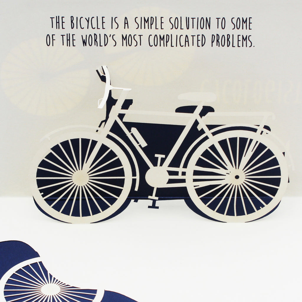 Cycologist Bicycle Pop up Card With a Nice Inspirational Bicycle Quote