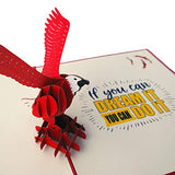 Motivational Eagle Pop Up Card With Inspirational Quote