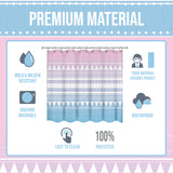 Boho Shower Curtain - Mold & Mildew-Resistant (72 x 72 Inches)