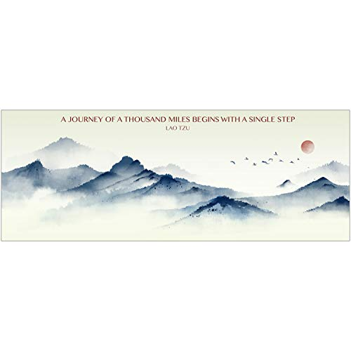Inspirational Mountain Poster With Lao Tzu Quote