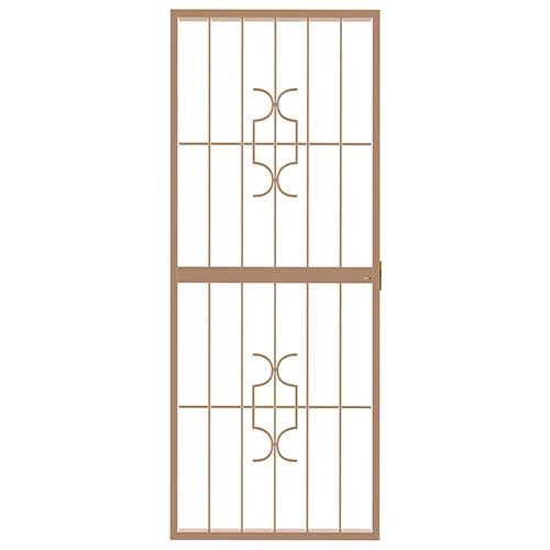 Homestyle Lockable Security Gate Bronze - White / 770mm x 1950mm