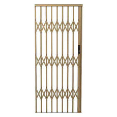 Alu-Glide Security Gate - 1000mm x 2150mm Bronze