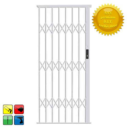 Alu-Glide Security Gate - 1000mm x 2150mm White
