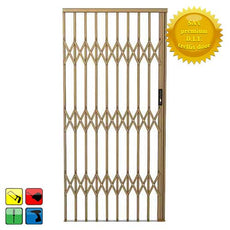 Alu-Glide Security Gate - 1500mm x 2150mm Bronze