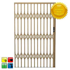 Alu-Glide Security Gate - 2200mm x 2150mm Bronze