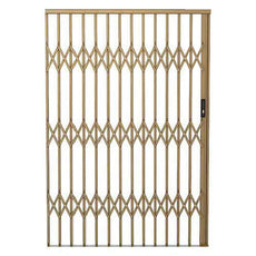 Alu-Glide Security Gate - 2500mm Bronze- LIMITED STOCK !
