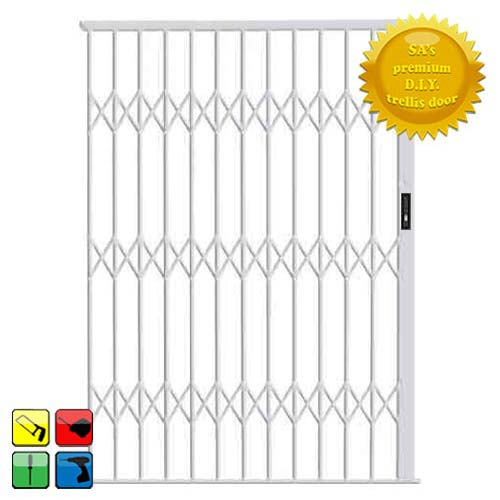Alu-Glide Security Gate - 2500mm x 2150mm White