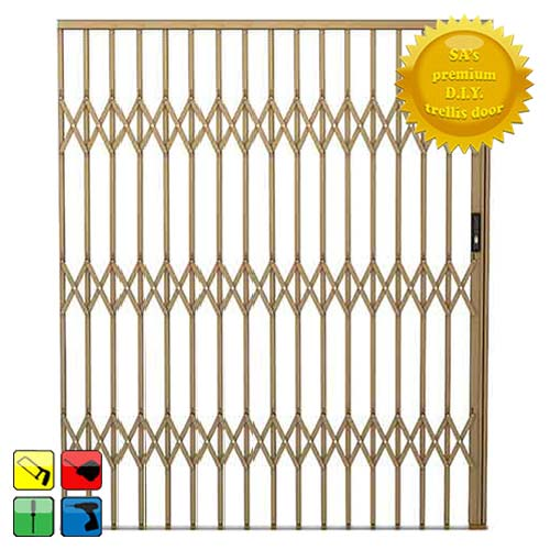 Alu-Glide Security Gate - 3000mm x 2150mm Bronze