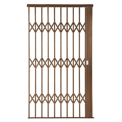 Xpanda Alu-Glide Plus Security Gate - 1500mm Bronze | Sliding Security Gate