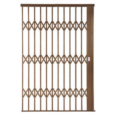 Alu-Glide Plus Security Gate - 2200mm x 2150mm Bronze