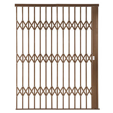 Alu-Glide Plus Security Gate - 2500mm x 2150mm Bronze