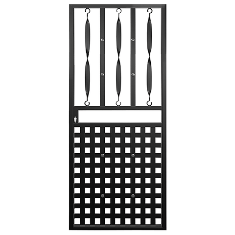 Xpanda Basketweave Deadlock Security Gate | Security Gate