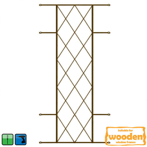 Diamond Burglar Guard - 530mm x 1270mm Bronze