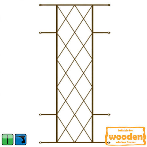 Xpanda Diamond Burglar Guard - 530mm x 1270mm Bronze | Burglar Guard