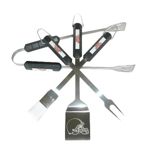 Cleveland Browns 4 Piece BBQ Set