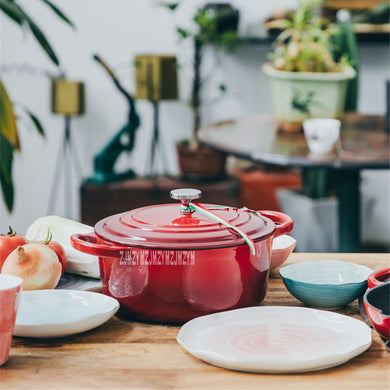 Enameled Cast Iron Saucepan - 9.44 Inch