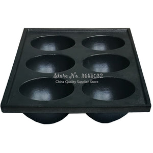 Cast Iron Muffin Pan - 6 Impression