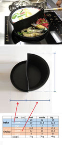 Cast Iron Saucepan-Skillet Combination - Size Information