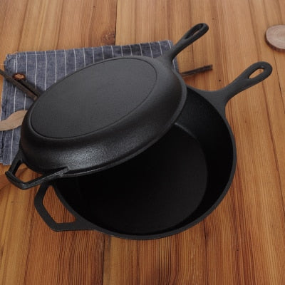 Cast Iron Saucepans - Deep and Shallow