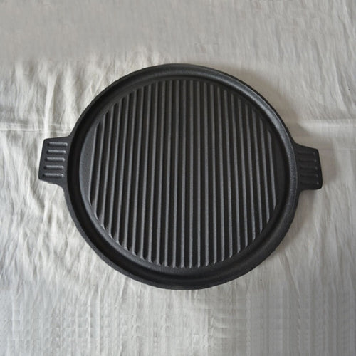 Cast Iron Two-sided Round Griddle - 14.1 Inch