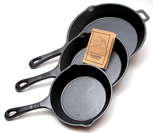 Cast Iron Skillet Set - 3 Piece