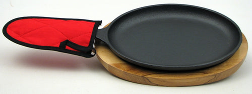 Cast Iron Fajita Plate Set