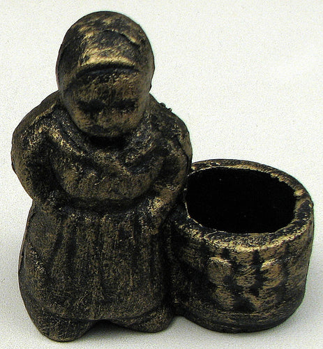 Cast Iron Toothpick Holder - Granny Design