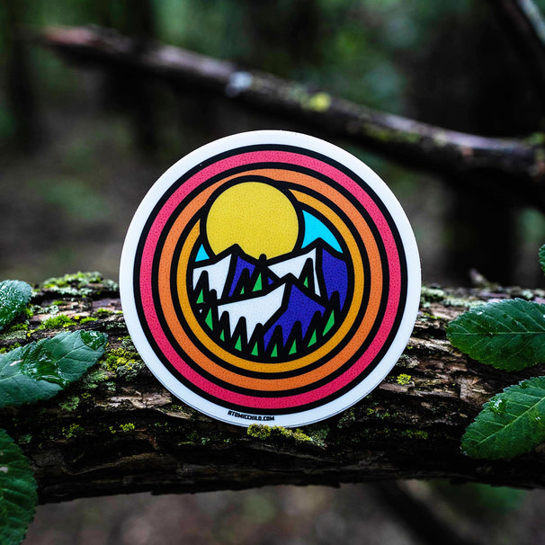 Circle Mountains Sticker