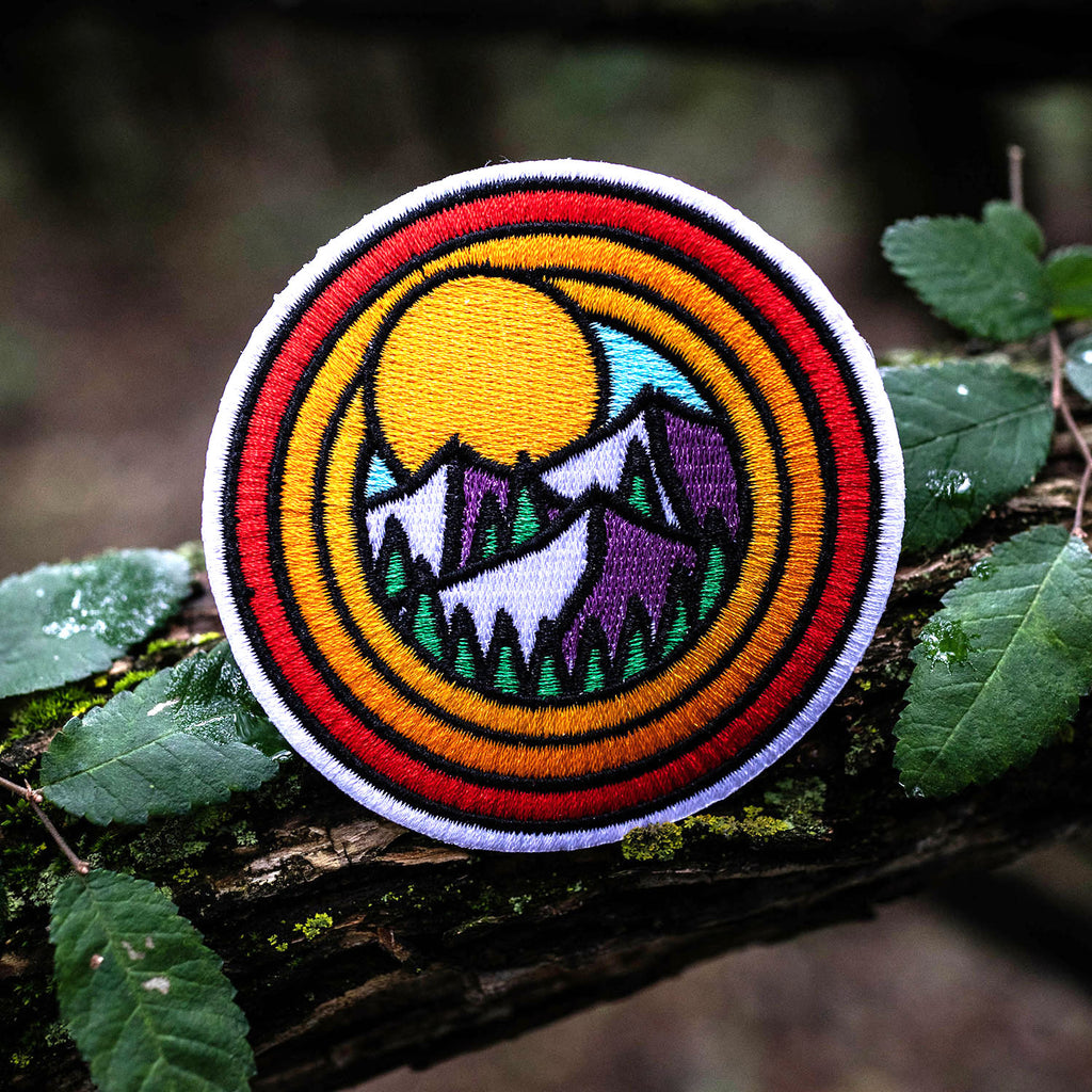 Circle Mountains Embroidered Patch