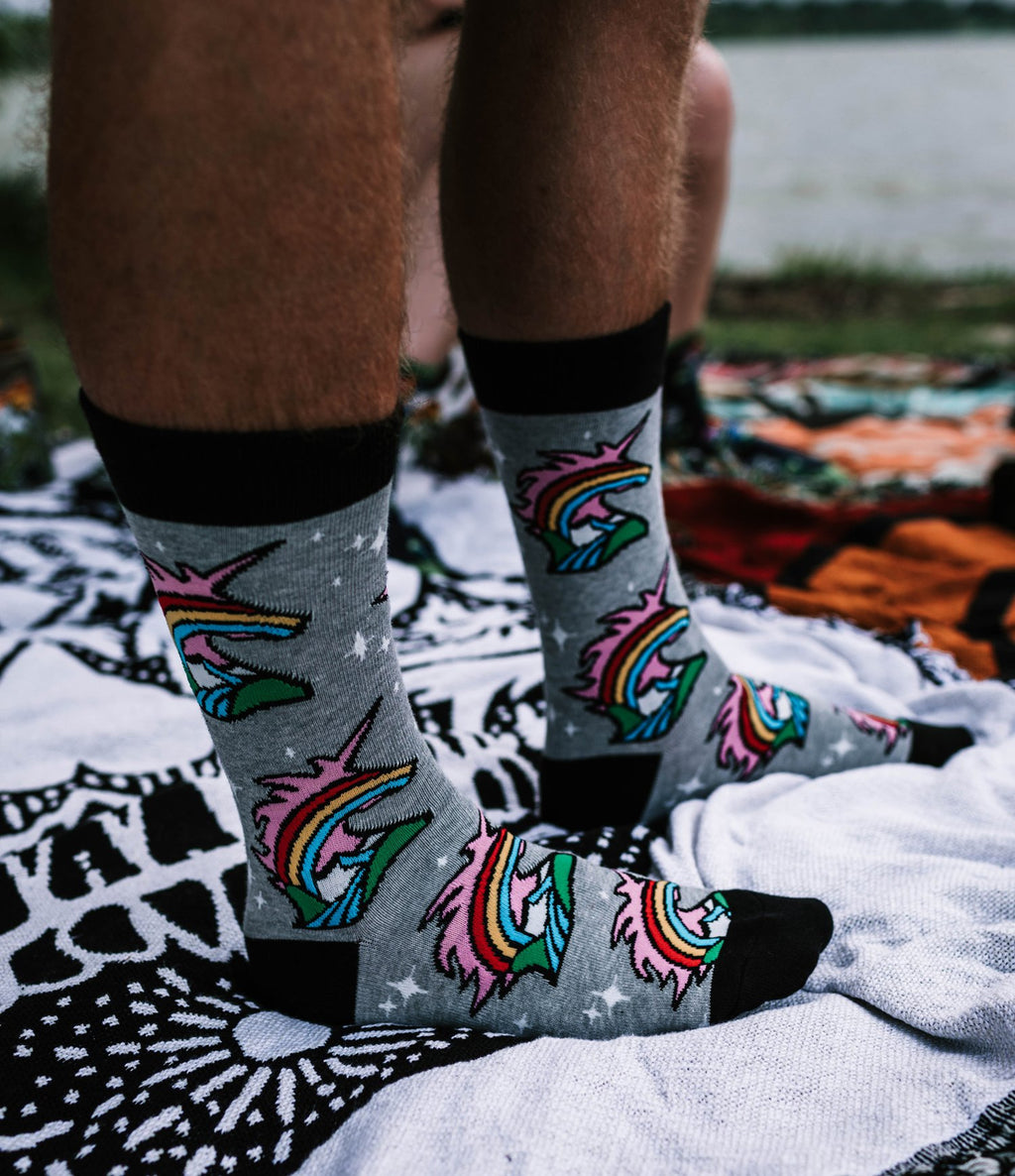 Atomicchild Men's Casual Socks - Unicorn