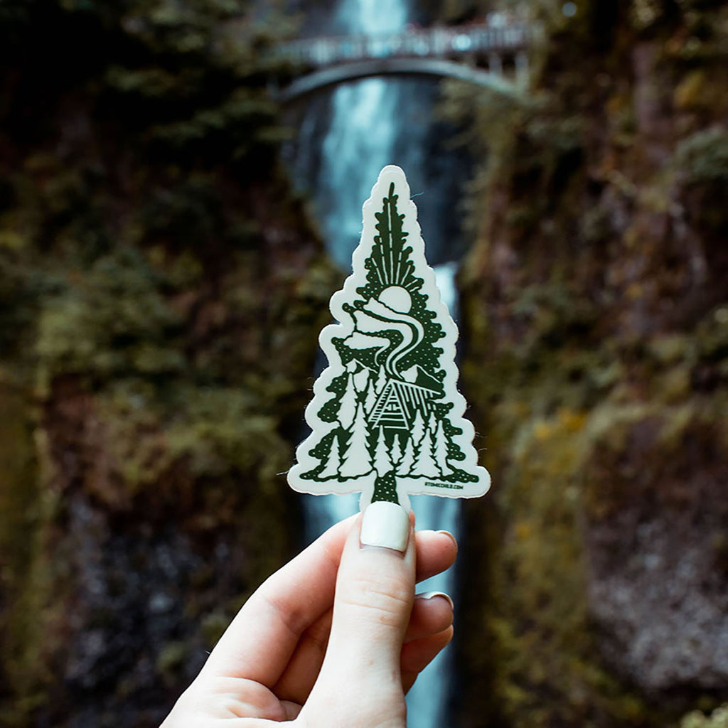Cabin/Tree Sticker