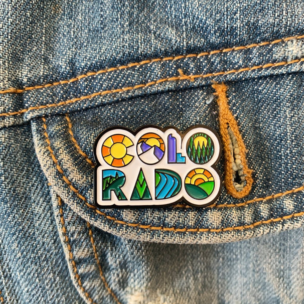 Colorado Name Enamel Pin