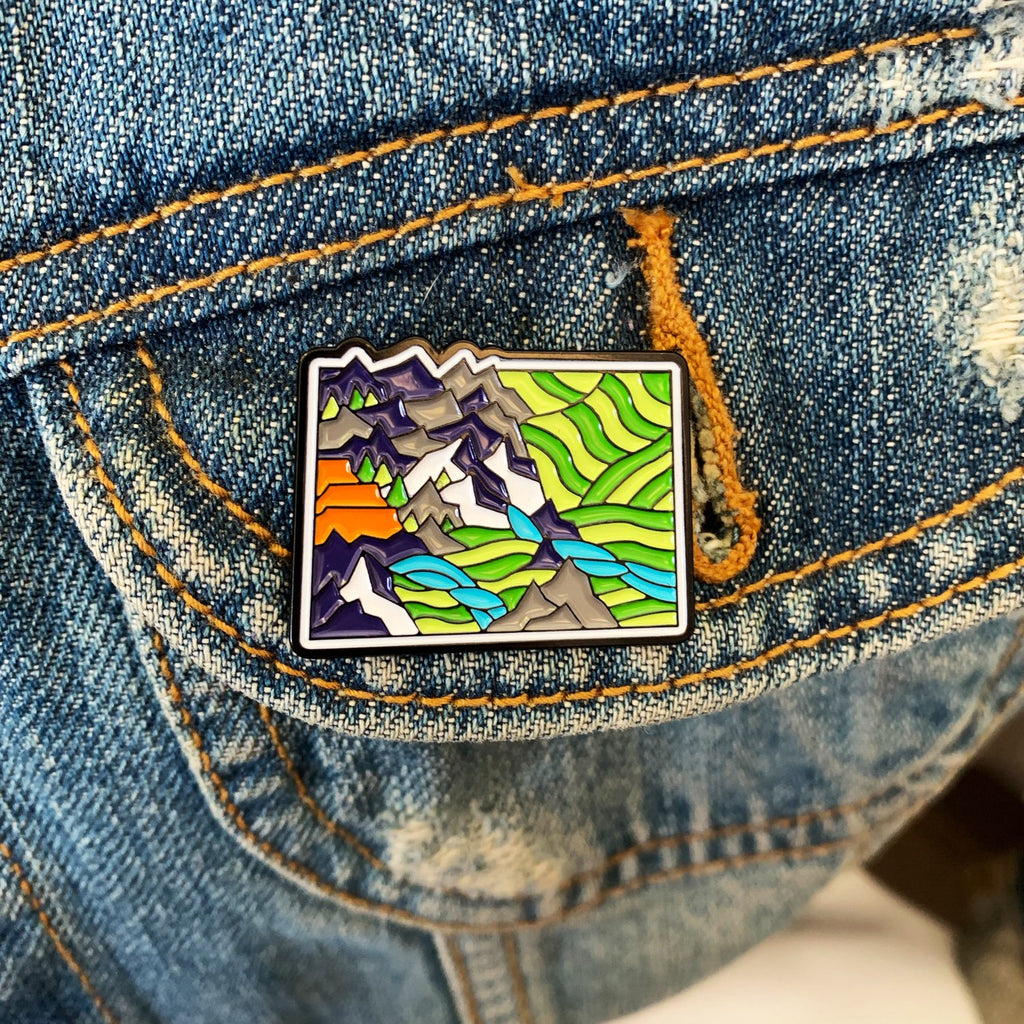 Colorado State Enamel Pin