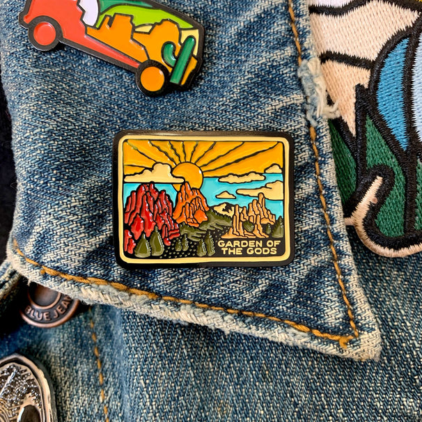 Garden of the Gods Enamel Pin